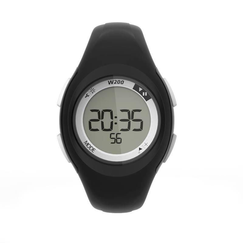 Montre digitale sport femme et junior W200 S timer noir