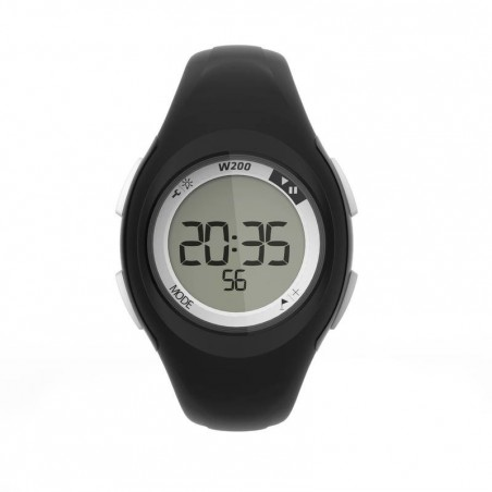 Montre digitale sport femme et junior W200 S timer noir