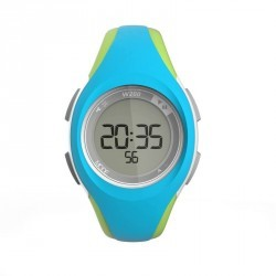 Montre digitale sport femme junior W200 S timer bleu & vert
