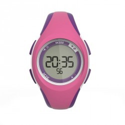 Montre digitale sport femme et junior W200 S timer rose et violet