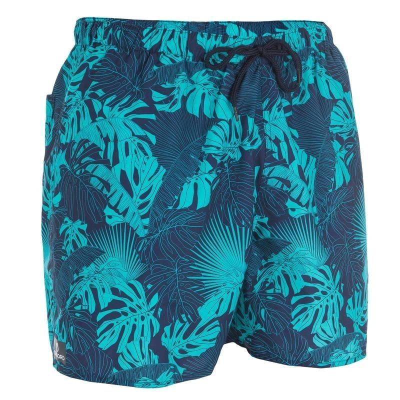 Boardshort court hendaia jungle bleu