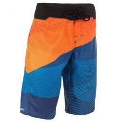 Boardshort long garçon Lafitenia tension orange
