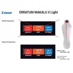 Sac de couchage MAKALU II Light taille XL