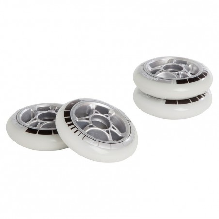 4 roues roller adulte POWERSLIDE 90mm 85A blanches
