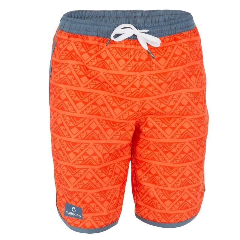 Boardshort long garçon Bidarte Overgeo orange