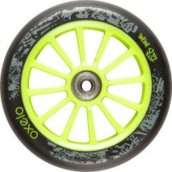 1 roue trottinette 125mm avec roulements verte