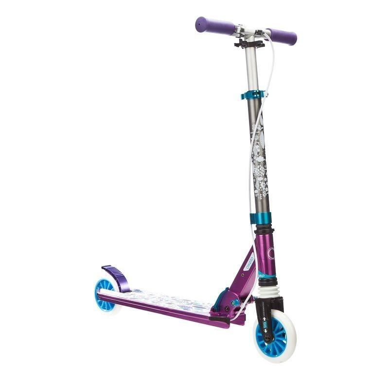 avis test trottinette enfant mid5 avec frein au guidon et suspension violette oxelo prix. Black Bedroom Furniture Sets. Home Design Ideas