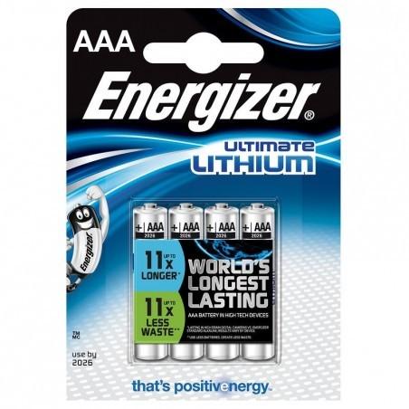 Lot de 4 piles ENERGIZER AAA-LR3 Lithium