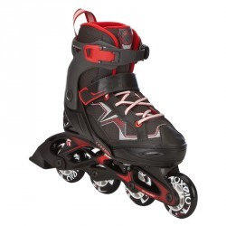 roller fitness enfant FIT 3 JUNIOR rouge noir