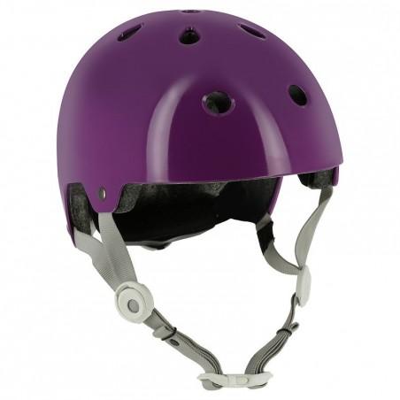 Casque roller skateboard trottinette vélo PLAY 5 violet