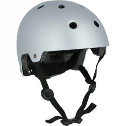 Casque roller skateboard trottinette vélo PLAY 5 gris