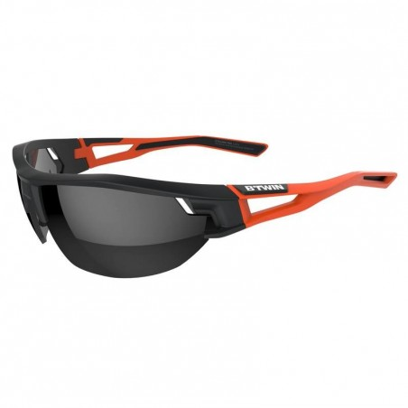 Lunettes de vélo adulte CYCLING 700 ORANGE noires et orange catégorie 3
