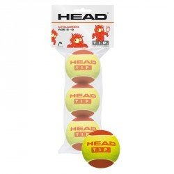 BALLES DE TENNIS HEAD ROUGE X3