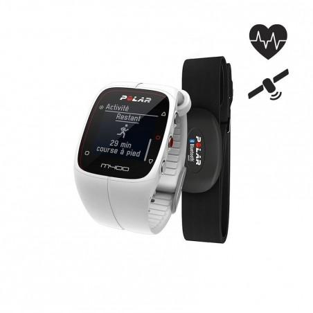 Montre GPS M400 HRM avec ceinture cardio blanche