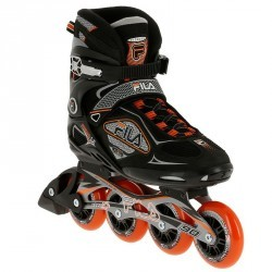 Roller fitness homme PRIMO LX 90 noir orange