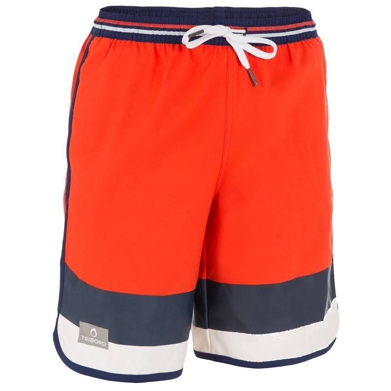 Boardshort long garçon Bidarte Mood rouge