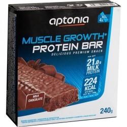 Barre de protéines MUSCLE GROWTH chocolat 4X60g