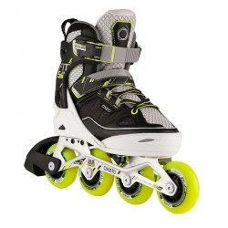 Roller fitness enfant FIT 5 JUNIOR jaune blanc