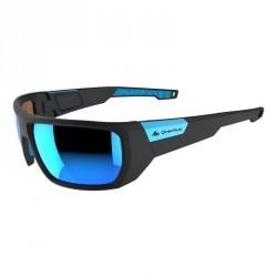 Lunettes randonnée adulte HIKING 700 SMALL noires & bleues catégorie 3