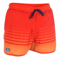 Boardshort court bidarte sunset rouge