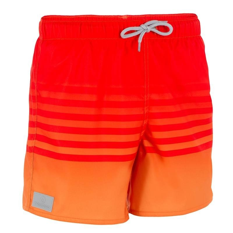 Boardshort court garçon Sunset orange