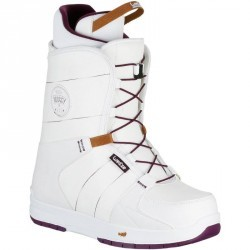 Chaussures de snowboard all mountain femme Boogey 300 fast lock blanches
