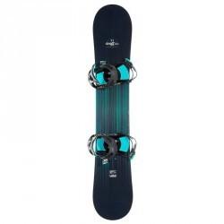 Pack snowboard all mountain femme Serenity 500 Carve noir et vert