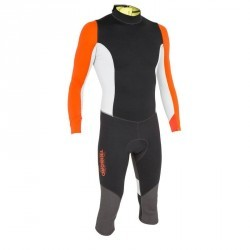 Combinaison néoprène 1mm dériveur/catamaran homme DG100 Light noir/orange