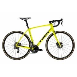 Vélo de Route Trek Domane SLR 9 Disc Shimano Dura Ace Di2 11V 2019 Jaune / Noir