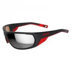 Lunettes de ski adulte SKIING 700 noires & rouges polarisantes catégorie 4