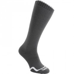 CHAUSSETTES DE SKI, HOMME FEMME, FIRSTHEAT, GRIS ANTHRACITE