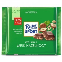 Chocolat au lait sport éclats de noisette 100g