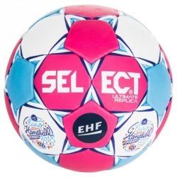 Ballon de handball ultimate replica de l'euro femme taille 1 rose bleu blanc