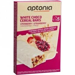 Barre de céréales enrobée Chocolat Blanc Fraise Cranberries 5x32g