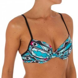 Haut de maillot de bain femme corbeille avec coques léger push up ELO ISIKETU