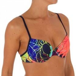 Haut de maillot de bain femme corbeille avec coques léger push up ELO LOTUS