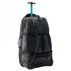 Valise à roulettes / Sac à dos Sport 90L noir / bleu