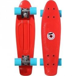 Mini skateboard enfant PLASTIQUE rouge