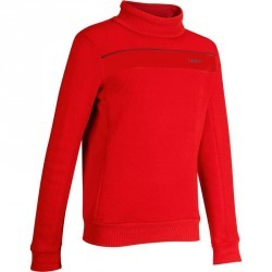 PULL DE  SKI MID WARM 100 ENFANT  ROUGE