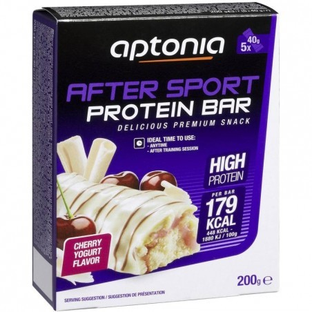Barre de protéines AFTER SPORT cerise yaourt 5X40g