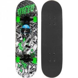 Skateboard junior MID 3 WALL noir vert