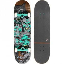 Skateboard TEAM SELFIE gris vert