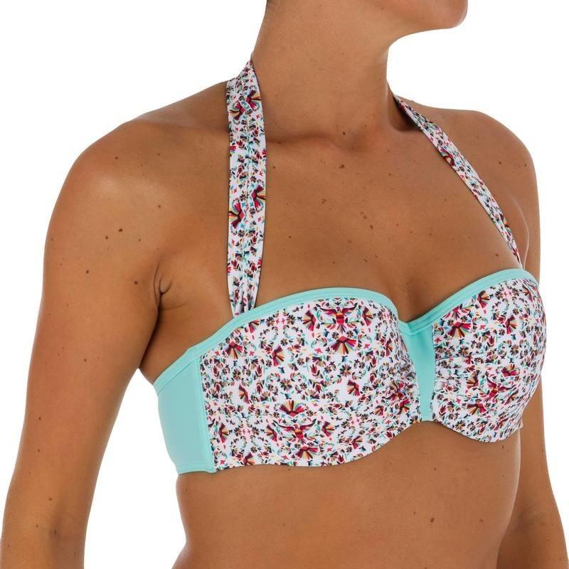 Haut de maillot de bain bandeau femme armatures LEA BIRD avec lien cou amovible