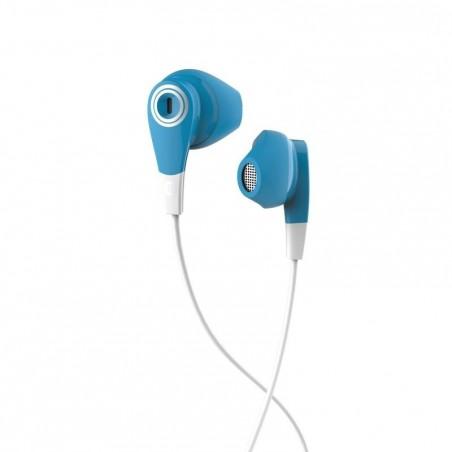 Ecouteurs sports filaires avec micro ONear 300 Bleu Blanc