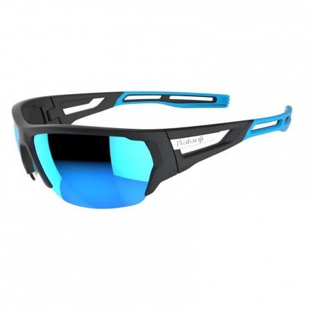 Lunettes de running adulte RUNNING 700 BLUE noires et bleues catégorie 3