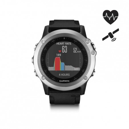 Montre GPS multisports cardio au poignet Fenix 3 HR Silver