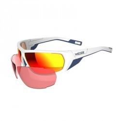 Lunettes de ski adulte SKIING 700 blanches & orange - 2 verres interchangeables