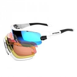 lunettes de vélo adulte CYCLING 900 BLUE PACK bleues - 4 verres intercheangables