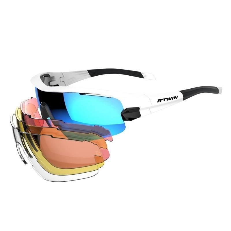 lunettes de vélo adulte CYCLING 900 BLUE PACK bleues - 4 verres  intercheangables 43b1c3aa6188