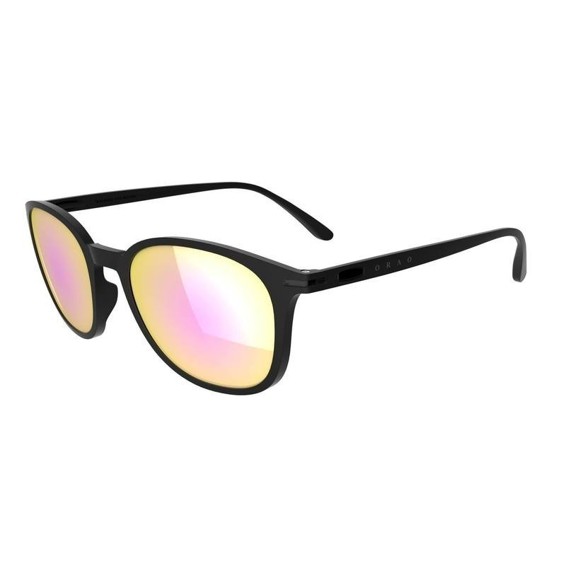 40c06496e979 Lunettes de soleil de marche sportive WALKING 600 ROUND noires polarisantes  cat3